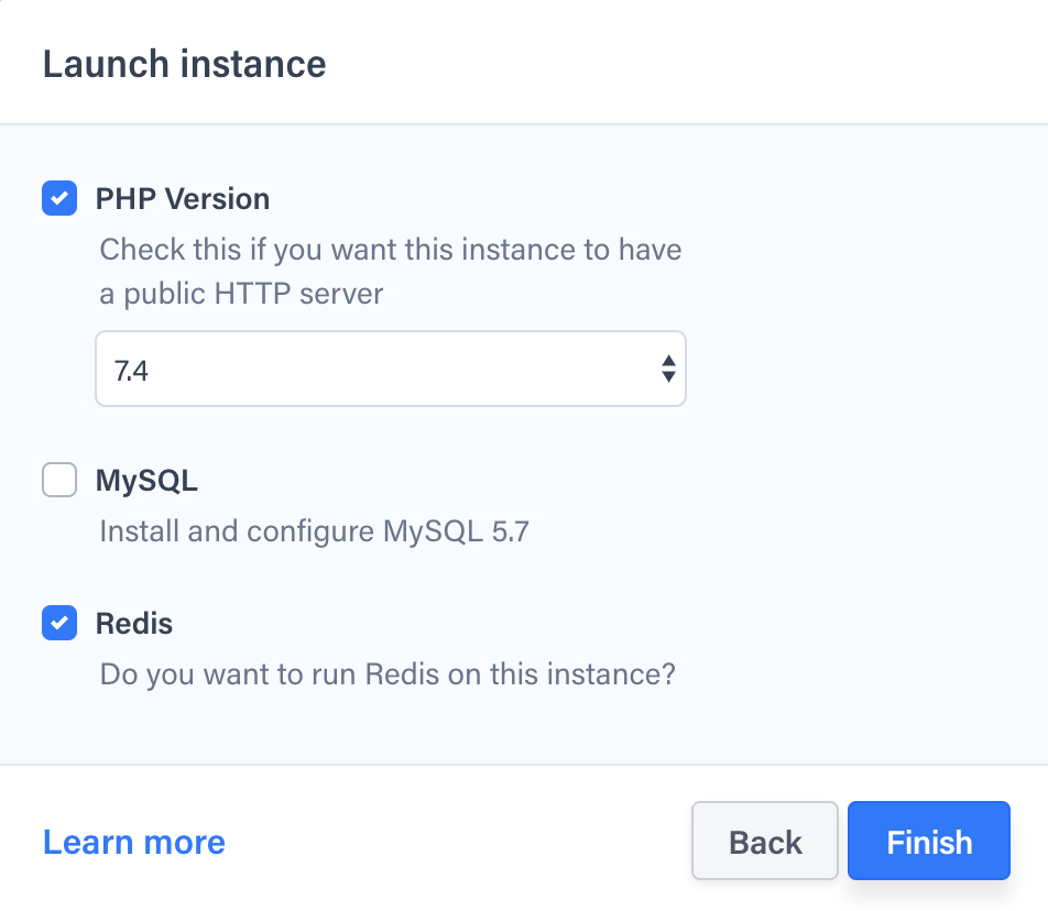 Instance launch in progress